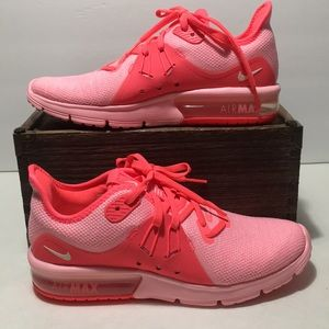 Nike Air Max Sequent 3 Pink Hot Punch Shoes Sz 6.5